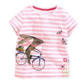兔子單車貼布短袖上衣   橘魔法Baby magic 現貨 女童 短袖 童裝