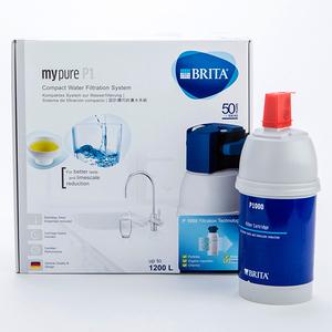 BRITA mypure P1硬水軟化櫥下型濾水系統 含P1000濾芯1入