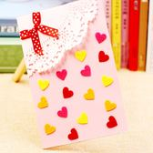【BlueCat】兒童DIY手作白雕花蝴蝶結愛心祝福卡片 材料包