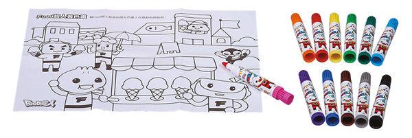 塗鴉大蠟筆-FOOD超人(12枝)~兒童色彩筆~塗鴉筆~/EMMA商城