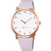 agnes b. 30週年限定紀念手錶-玫瑰金框x粉/33.8mm VJ20-KCW0P(BJ5015X1)