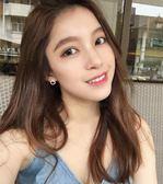 玫瑰金圓圈耳釘女氣質韓國個性無耳洞耳夾精致小耳墜純銀簡約耳環   提拉米蘇