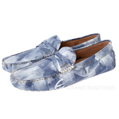TOD'S Gommino Driving 刷色豆豆休閒鞋(藍白色) 1620298-77