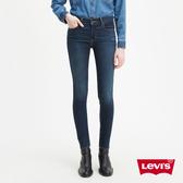 Levis 女款 710 中腰超緊身 / 超彈力牛仔褲 / 四向彈性延展 / 深藍微刷白