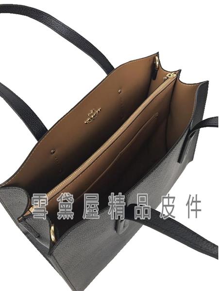 ~雪黛屋~COACH 托特包大容量可A4紙二層國際正版保證進口防水防刮皮革品證購證塵套提袋等候10-15日