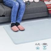 樂嫚妮 慢回彈乳膠底地墊 藍-80X120cm