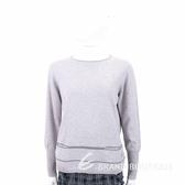 Andre Maurice 喀什米爾灰色條紋針織羊毛衫 1840006-06