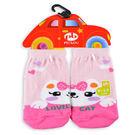 【6雙一組】貝柔止滑對稱寶寶襪(0~3歲)-蝴蝶喵