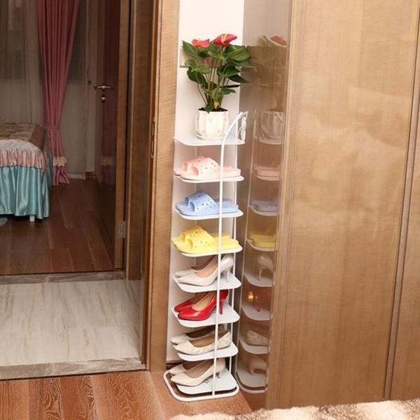 簡約現代客廳多層鐵藝鞋架經濟型 cf