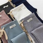 【雙11折300】抽繩螺紋純棉孕婦褲春秋薄款豎條紋托腹褲
