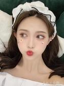 發帶女生洗臉蕾絲花邊韓國粘貼式頭飾薄款束發帶女  千千女鞋