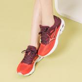 MIZUNO WAVE RIDER 23 WIDE 3E 慢跑鞋 紅 J1GD190459 女鞋
