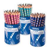 【德國LYRA】Groove三角洞洞鉛筆(粗12入) 產地:德國 ★加贈:Giotto筆筒
