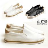 防磨腳小白鞋 簡約素面休閒鞋- 山打努SANDARU【091858#41】