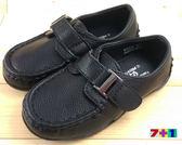 黑色 貴族氣質銀扣皮鞋 休閒鞋《7+1童鞋》A351