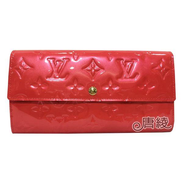 【Louis Vuitton 路易威登】M91739 經典Monogram壓花漆皮長夾(亮粉紅-展示品)