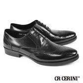 【CR CERINI】質感翼紋雕花牛津鞋 黑色(73561-BL)