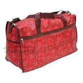 〔小禮堂〕Hello Kitty 兩用尼龍行李袋《紅.格紋.滿版》旅行袋.媽媽包.側背袋 4580433-06455