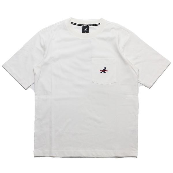 KANGOL 短袖 短T 白 胸前口袋 袋鼠 棉 男 (布魯克林) 6021100800