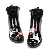 中筒馬丁靴女士雨鞋短筒水鞋雨靴防滑鞋女