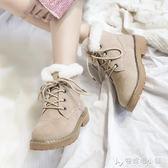 雪地靴女新款冬加絨韓版百搭短筒學生ins馬丁靴短靴大棉棉鞋 安妮塔小舖