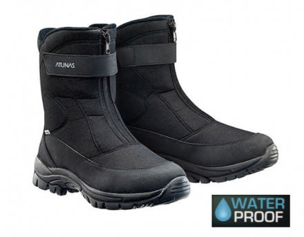 ATUNAS 歐都納 防水保暖 中筒/高筒 雪靴 (GC-1610黑色) 男 ★買就送保暖雪襪★