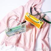果凍包 透明包包女迷你果凍包斜背包小香風菱格鍊條包   ciyo黛雅