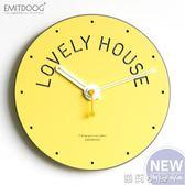 掛鐘創意家用北歐時尚個性簡約鐘錶現代臥室客廳掛錶靜音 igo蘿莉小腳ㄚ