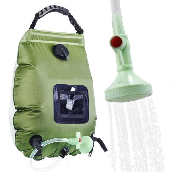 戶外便攜太陽能淋浴沐浴袋露營野營洗澡熱水袋20L可摺疊儲水袋 格蘭小鋪