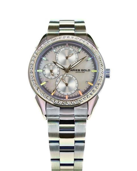 Aries Gold雅力士手錶 L 1156A RB-MOP 獨特氣質三眼女錶 珍珠母貝設計 無錶盒 錶現精品 原廠公司貨