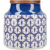 《CreativeTops》Drift陶製密封罐(蠟染藍)