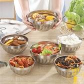 湯面碗不銹鋼碗家用雙層吃飯碗食堂防燙兒童隔熱成人飯店【雲木雜貨】