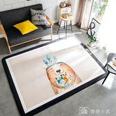 爬行墊 長方形卡通動物地墊寶寶爬行墊客廳臥室茶幾防滑地毯可機洗 YXS 娜娜小屋