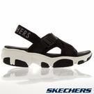 SKECHERS DADDY-O 女鞋 休閒 涼鞋 彈力織帶 輕量 瑜珈鞋墊 黑【運動世界】163051BLK