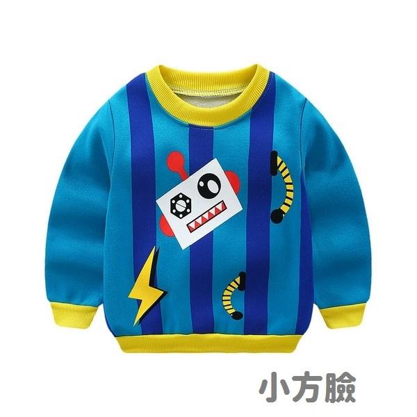 長袖上衣 可愛卡通 加絨長袖圓領衛衣 內刷毛 大學T 寶寶童裝 ZS14126 好娃娃