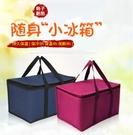 保溫袋 牛津布鋁箔大容量保溫袋手提飯盒袋保鮮海鮮袋旅游保溫袋手拎袋 免運 艾維朵