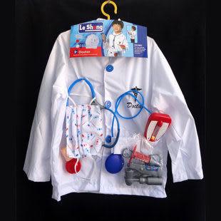 萬聖節表演裝扮 兒童醫生衣服
