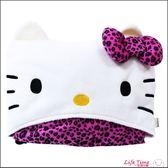 《最後2個》Hello Kitty 正版 凱蒂貓 豹紋車用毯 毛毯 毯子 冷氣毯 連帽毯 靠枕 B16077