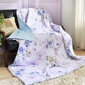【夏末出清】義大利La Belle《紫韻戀香》純棉吸濕透氣涼被(5x6.5尺)