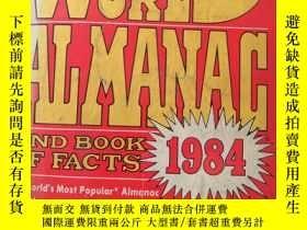 二手書博民逛書店the罕見world almanac 1984( :A703)Y