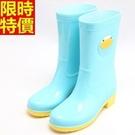 中筒雨靴雨鞋-可愛糖果撞色萌物女靴子鞋子4色66ak6【時尚巴黎】