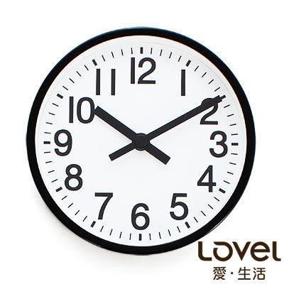 里和Riho LOVEL 16cm雋永經典鋁框靜音桌鐘/壁掛時鐘(7361-BK) 台灣製造,高品質機芯