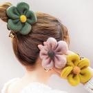 毛絨絨大花朵造型髮圈 髮圈 兒童髮飾 造型髮圈