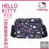 Hello Kitty 側背包 悠遊星空 深藍色 橫式斜背包(小型) KT01Q01NY MyBag得意時袋