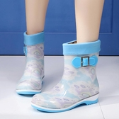 冬季保暖加絨雨鞋女中筒防滑果凍雨靴雨雪韓版水鞋女士套鞋膠鞋 居享優品