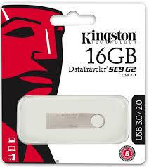 Kingston 金士頓 DTSE9G2 16GB USB3.0 新版隨身碟(DTSE9G2/16GBFR)時尚金屬材質和貼心圈孔鑰匙圈設計