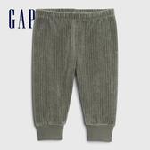 Gap嬰兒 保暖燈芯絨鬆緊休閒褲 622851-綠色