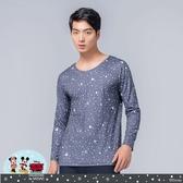 【WIWI】雪花米奇溫灸刷毛圓領發熱衣(銀河灰 男S-3XL)