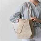 手提包 草編包包女包夏天小清晰新款百搭編織包單肩包沙灘包 手提包 【618特惠】