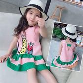 女童裙子夏裝2018新款韓版中大童裝寶寶公主背心裙兒童洋氣連身裙   LannaS